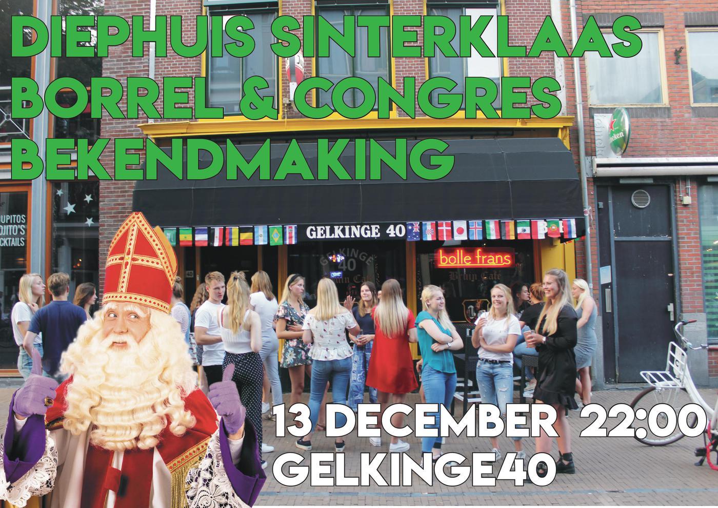 Diephuisborrel december Sinterklaasborrel & congresbekendmaking